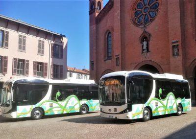 Alba: presentazione bus elettrici